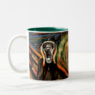 Funny Lacrosse Two-Tone Coffee Mug