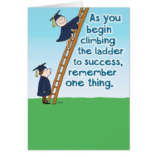 Funny Ladder Of Success Graduation Card Zazzle Com