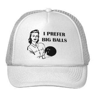 Funny Ladies Bowling I Prefer Big Balls Trucker Hats
