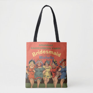 Funny ladies night tote bag