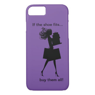 Funny Ladies Shopping Theme iPhone 7 Case