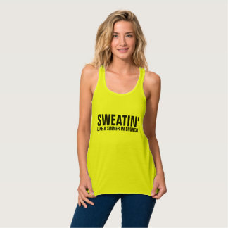 Funny Ladies Workout shirts & tank tops, SWEATIN'