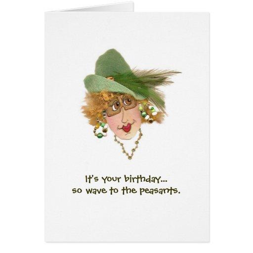 Funny Lady Birthday Peasant Card