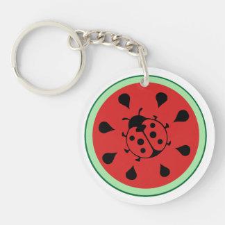 Funny Ladybug and Watermelon Keychain