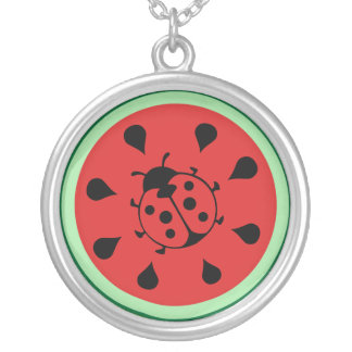 Funny Ladybug and Watermelon Necklace