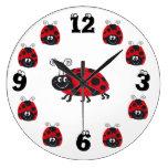 Funny Ladybug - Clock