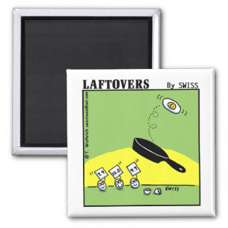 Funny Laftovers Gymnast Egg Cartoon Fridge 2 Inch Square Magnet