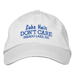 a97ca0ecffd92 Funny Lake Hair Don t Care Custom Lake Name Embroidered Baseball Cap