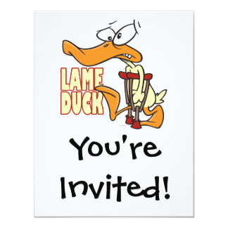 funny lame duck cartoon card