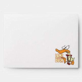 funny lame duck cartoon envelope