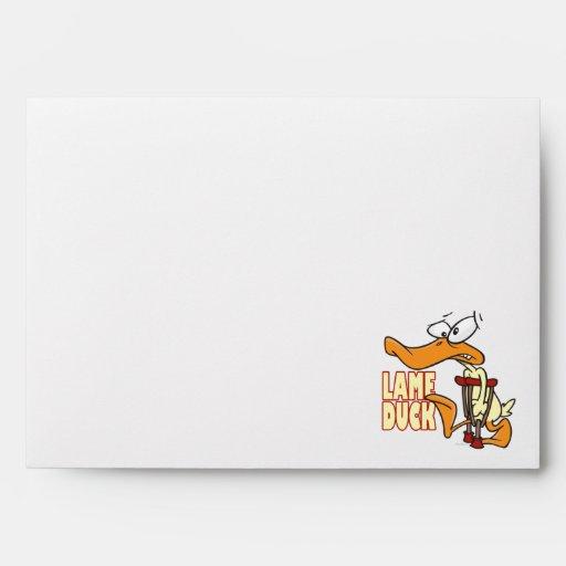 funny lame duck cartoon envelopes