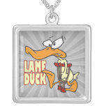 funny lame duck cartoon necklaces