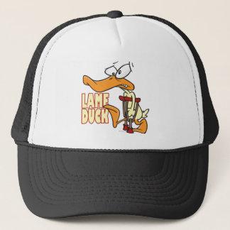 funny lame duck cartoon trucker hat