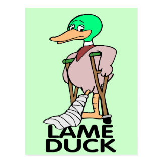 Funny Lame Duck T-shirts Gifts Postcard