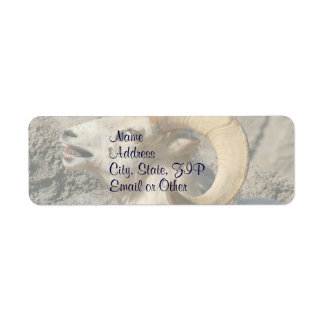 Funny Laughing Bighorn Sheep or Ram Label