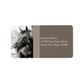 Funny Laughing Horse Label