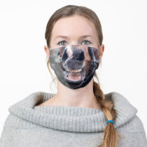 Funny Laughing Horse Mouth Cloth Face Mask