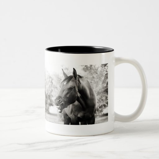 Funny Laughing Horse Two-Tone Coffee Mug