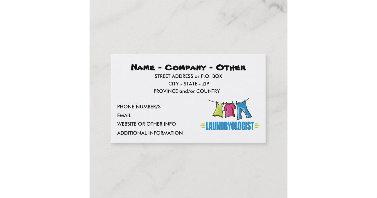 Funny Laundry Business Card | Zazzle.com