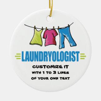Funny Laundry Ceramic Ornament