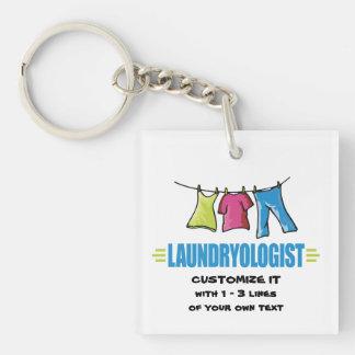 Funny Laundry Acrylic Key Chain