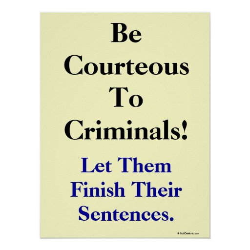 Funny Law and Crime Slogan Print