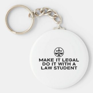 Funny Law Student Basic Round Button Keychain