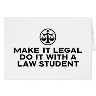 Funny Law Student Card