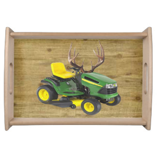 Funny Lawnmower Serving Tray