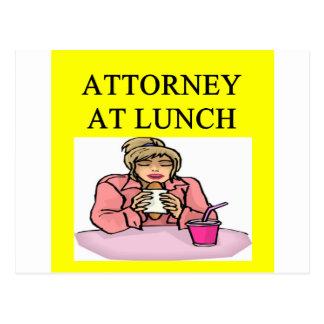 funny lawyer attorney joke postcard