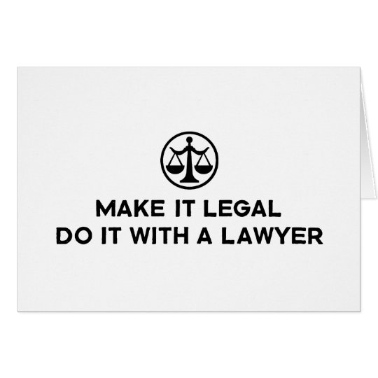 Funny Lawyer Card