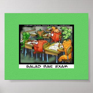 "Funny Lawyer Cartoon Poster""Salad Bar Exam"" Poster"