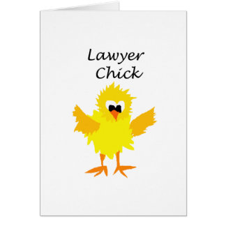 Funny Lawyer Chick Art Design Card