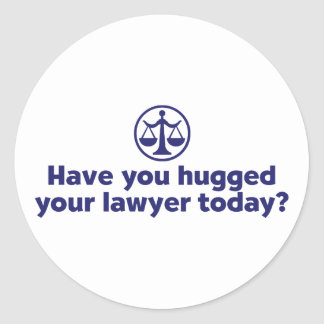 Funny Lawyer Classic Round Sticker