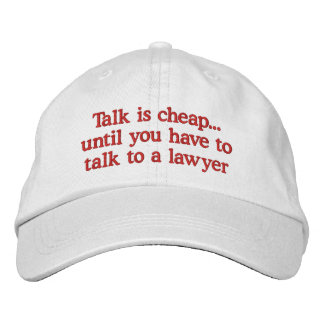 Funny Lawyer Hats Embroidered Hat