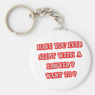 Funny Lawyer Pick-Up Line Basic Round Button Keychain