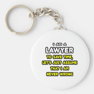 Funny Lawyer T-Shirts and Gifts Basic Round Button Keychain