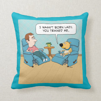 Funny Lazy Dog Throw Pillow