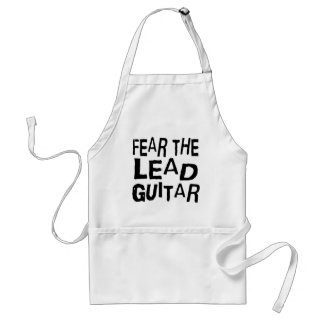 Funny Lead Guitar Adult Apron