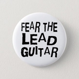 Funny Lead Guitar Pinback Button