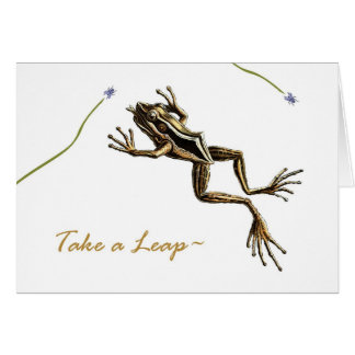 Funny Leap Year Birthday, Vintage Frog Card