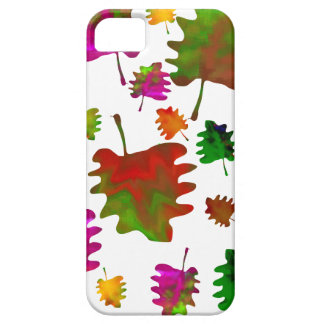 Funny leaves watercolor iPhone SE/5/5s case