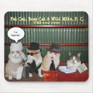 Funny Legal Cats Mouse Pad