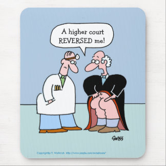 Funny Legal Profession Cartoon Mouse Pad