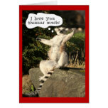 Funny Lemur Love You This Much Valentines Day Greeting Card