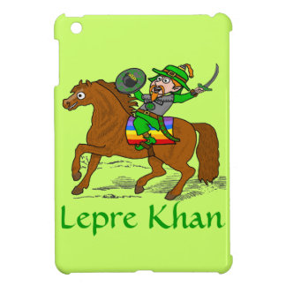 Funny Lepre Khan St Patrick's Day iPad Mini Cases