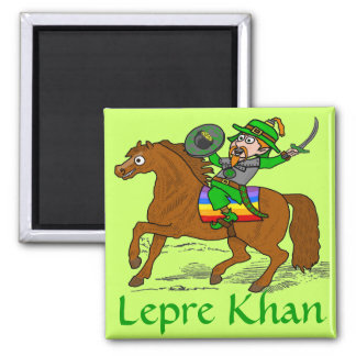 Funny Lepre Khan St Patrick's Day Magnet