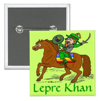 Funny Lepre Khan St Patrick's Day Pinback Button