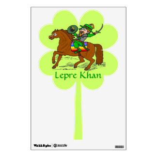 Funny Lepre Khan St Patrick's Day Wall Stickers