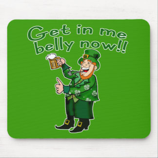 Funny Leprechaun and Beer Tshirt for St. Pat's Mouse Pad